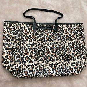 Victorias Secret Leopard Print Tote Bag